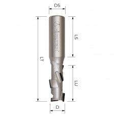 Концевая алмазная фреза для ЧПУ MICROTECH D10 B25 S12 Z1+1 RH EC3E1025R-12