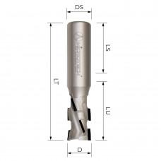 Концевая алмазная фреза для ЧПУ MICROTECH D12 B25 S12 Z2+1 RH EC4E1225R