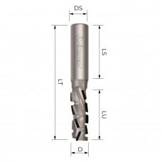 Концевая алмазная фреза для ЧПУ MICROTECH D12 B27 S12 Z2+1 RH ECX1227R