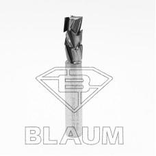 Концевая алмазная фреза для нестинга BLAUM D12 B27 S12x40 Z3+3 RH 14.122712.3.R.N.H