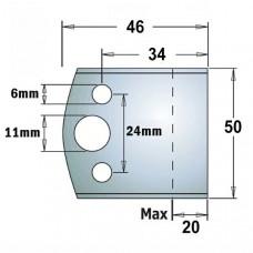 Комплект 2 бланкет HSS 50x4 мм CMT 690.599H