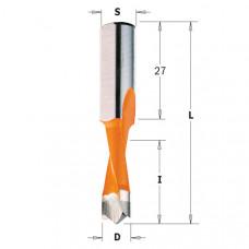 Сверло глухое для присадочного станка CMT D10x27x57.5 S10x27 LH 310.100.42