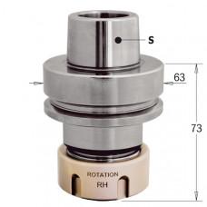 Патроны HSK-F63 под цанги ER 32 c подшипником CMT RH-LH 183.300.11