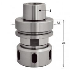 Патрон HSK для высокоточных цанг DIN6388 EOC-25 с подшипником CMT HSK-F63 RH-LH 183.320.01
