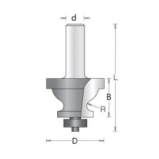 Фреза мультипрофильная кромка профильная с галтелью DIMAR 40x27x76x12 R4 1560539
