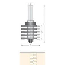 Фреза прямой шип для ящиков DIMAR 47.6x36x96x12 T9.3 1089019