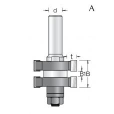 Фреза для соединения шип-паз DIMAR 47.4x85x12 1450229