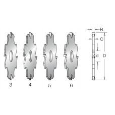 Фреза пазовая с напайными ножами (комплект) DIMAR D125 d30 B3-18 Z4 7120941
