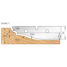 Сменный HM нож для фрезы изготовления филенки DIMAR Профиль 1 3108539