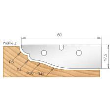 Сменный HM нож для фрезы изготовления филенки DIMAR Профиль 2 3108540