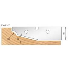 Сменный HM нож для фрезы изготовления филенки DIMAR Профиль 7 3108545