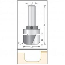 Фреза радиусная с плоским дном с подшипником DIMAR 12.7x12.7x54x6 R3 1062623