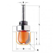 Фреза для изготовления желобков и чаш  с подшипником CMT 19x16x54x6 R6.4 751.002.11B