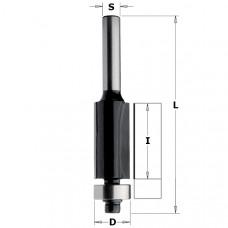 Обгонная фреза с нижним подшипником CONTRACTOR 12.7x25.4x67x8 Z2 K906-127