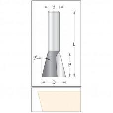 Фреза ласточкин хвост DIMAR 12.7x12.7x49x8 угол 14 1040045