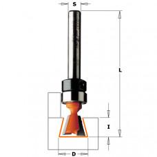 Фреза ласточкин хвост с подшипником CMT 12.7x12.7x52.4x6 A 14º 718.127.11B