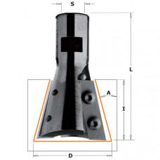 Фреза пазовая ласточкин хвост Arunda Z2 CMT 39.5x31.5x65.5 M12x1 A15º 664.395.11