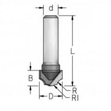 Фреза профильная врезная WoodPecker 12.7x8x38x6 R4.0/3.2 HRC0303