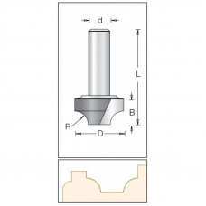Фреза врезная радиусная DIMAR 12.7x10x48x6 R3 1270023