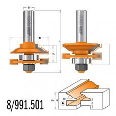 Комплект фрез для мебельной обвязки CMT 44.4x18-22x71x12 991.501.11