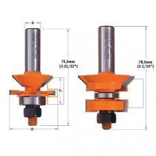 Комплект из 2-х фрез для изготовления вагонки CMT 44.4x19-25.4x12 955.506.11