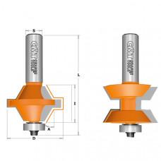 Фреза шип-паз для мебельной обвязки (комплект) CMT 40x25.4x74.5x12 A30 955.510.11