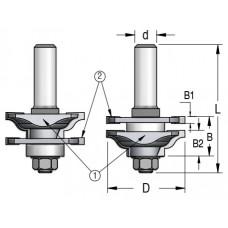 Фрезы для изготовления мебельного фасада WPW 46x22x76x12 RG10002
