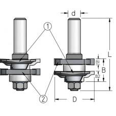 Фрезы для изготовления мебельного фасада WPW 41x22x76x12 RG20002