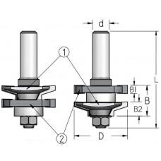 Фрезы для изготовления мебельного фасада WPW 41x22x76x12 RG50002