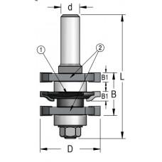 Фреза для изготовления мебельного фасада без настройки WPW 41x22x84x12 RGD2002