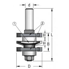 Фреза для изготовления мебельного фасада без настройки WPW 41x22x84x12 RGD5002