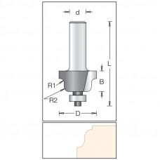 Фреза радиусная по искусственному камню римский профиль DIMAR 28.6x16x63x12 R3.2/4.0 1130109