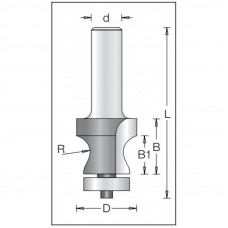 Фреза антиперелив по искусственному камню DIMAR 25x23x77x12  R8.0 1550029