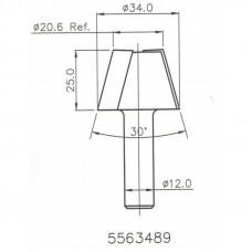 Фреза ремонтная конусная по искусственному камню DIMAR D34-20.6 B25 S12 5563489