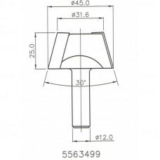 Фреза ремонтная конусная по искусственному камню DIMAR D45-31.6 B25 S12 5563499