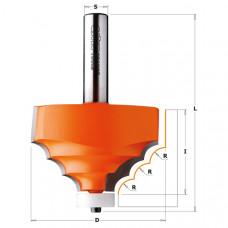 Фреза профильная по искусственному камню CMT 66.7x41.3x89.8x12 R8 980.521.11