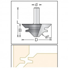 Фреза для углового сращивания DIMAR 67x29.5x77.5x12 1490049
