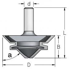 Фреза для углового сращивания WPW 45º 67x30x69x12 FJ40002