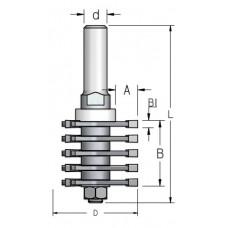Фреза прямой шип для ящиков WPW 47.6x36x96x12 FJ50002