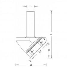 Фреза V-образная со сменным ножом Угол 100 DIMAR 41.2x17.3-27x81x12 Z1 1053629