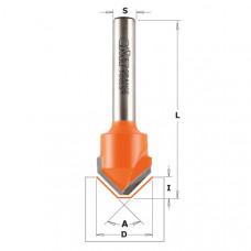 Фреза пазовая V-образная для Alucobond 135° CMT 18x3.3x60x8 A 135° 915.002.11