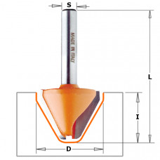 Фреза для гравировки закруглённый угол 60° CMT 28x19x63.5x12 949.502.11