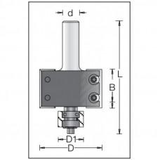 Фреза для выборки четверти с подшипником со сменными ножами DIMAR 50.8x29.5x84x12 T15.9 1143109