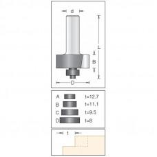 Фреза для выборки четверти с набором подшипников DIMAR 35x12.7x55x8 T12.7/11.1/9.5/8 1144065