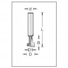 Фреза T-образная для изготовления подвесных гнезд DIMAR 12.7x9.5x38.1x6 1141033