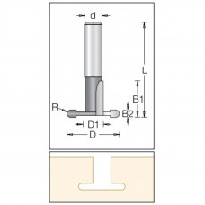 Фреза пазовая T-образная для эконом панелей DIMAR 28.8x20.7x55x12 1460109