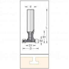 Фреза пазовая T-образная для эконом панелей DIMAR 30x17x60x12 1460709