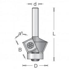 Фреза для снятия фаски с подшипником со сменными ножами DIMAR 27x12x56x6 угол 45 1024523