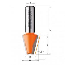 Фреза для фасок по искусственному камню CMT 23x25.4x63.5x12 A 15º 981.521.11