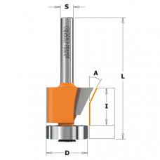 Обгонно-фасочная комбинированная фреза CMT 19-24.5x16x56.5x8 A 0º-25º 907.210.11